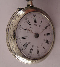 Systeme Roskopf '1900 Antique Swiss Engraved Pocket Watch Perfect Serviced