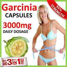 3000mg Daily Strong GARCINIA CAMBOGIA Diet Slim Capsules Natural WEIGHT LOSS #