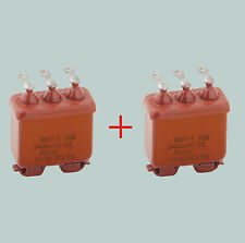 2 x 0.5 uF 200 V LOT OF 2 RUSSIAN PAPER IN OIL PIO AUDIO CAPACITORS MBGP МБГП–3