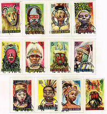 Guinee African Country Ethnic People Masks set 1967