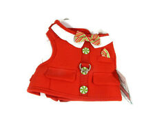 Martha Stewart Dog Harness Vest XS Candy Cane Green Red Pet Apparel New