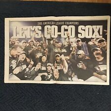 Chicago White Sox 2005 World Series Preview section newspaper