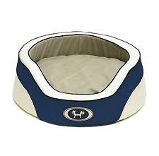 """Petego United Dreams  Italian Turin Dog Pet Bed Blue, 35 1/2"""" by 11 3/8 Inches"""