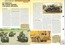 4X4/6X6 VAB Hot Vehicule de l'Avant Blindé France Bis 2000 FICHE CHARS TANKS