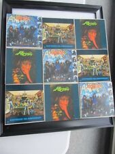 9 PC LOT - ANTHRAX - POISON - EASYRIDERS 10TH ANNIVERSARY - I'M THE MAN OPEN UP