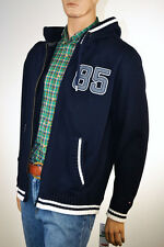 Tommy Hilfiger Mens Navy Blue Hooded Cardigan Sweater Jacket-XLarge- NWT
