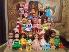 LOT OF 20 BARBIE'S  KELLY, FRIENDS, AND CHELSEA DOLLS ALL W/ CLOTHES/SOME SHOES