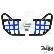 Kawasaki KFX 450 450R  Nerf Bars    Alba Racing  Black bar Blue nets 188 T1 BL