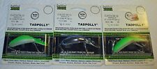 NOS-VINTAGE HEDDON CLATTER TAD TADPOLLY NEW ON CARD-LOT OF 3-RARE COLORS!