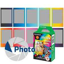 Fujifilm Instax Mini Full Color RAINBOW Fuji Instant Film 10 Sheets Prints