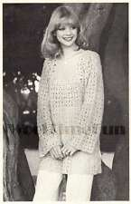 Crochet Pattern Lady's Summer Boho Style Tunic/Top. 33 to 38 Inch Bust.