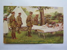 WORLD WAR I POSTCARD DAILY MAIL OFFICIAL WAR PICTURES KING GEORGE WOUNDED MEN
