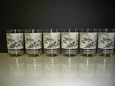 "SIX ARBY'S COLLECTORS GLASSES CURRIER & IVES ""CHRISTMAS SNOW"" 6 GLASSES"