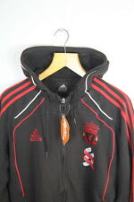 VINTAGE Mens ADIDAS Hoodie (URBAN SHABBY CASUAL LIVERPOOL) Small ZIPPER P27