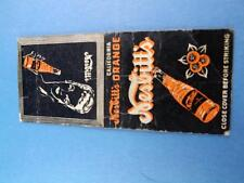NESBITT'S SODA POP CALIFORNIA ORANGE BOTTLE MATCHBOOK VINTAGE ADVERTISING