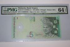 (PL) RM 5 CA 0000285 PMG 64 EPQ 4 ZERO LOW NICE FANCY LUCKY NUMBER NOTE GEM UNC