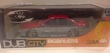 Jada Toys Chevy Impala SS Dub City Silver with Red 1:18 Scale Car Model