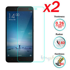 2Pcs 9H Genuine HD Tempered Glass Screen Protector Film For XiaoMi Redmi Note 2