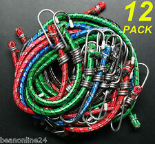 Value 12 Pack Assorted Bungee Cords / Octopus Straps Occy Straps