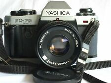 Yashica FX 70 SLR Film Camera w 50mm F2 Manual Focus Lens In Good Condition