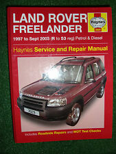 LAND ROVER FREELANDER HAYNES SERVICE REPAIR MANUAL PETROL DIESEL 1997-2003 R 53