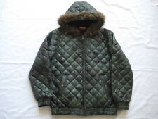 13Supreme Quilted Leather Hooded Jacket