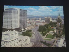 GREETINGS FROM ADELAIDE SA VICTORIA SQUARE ADELAIDE HILLS IN BACKGROUND POSTCARD