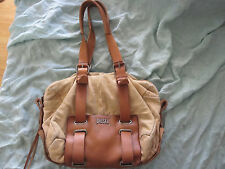 Authentic DIESEL Girls In The Loop Electra Small Women Suede Satchel Bag