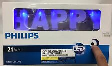 Philips Color Changing Blue to White HAPPY HANUKKAH 21 LED Light Display Sign