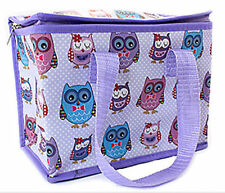 Lunch Bag Owl Design Childrens School Packed Lunch Picnic Drinks Easy Clean