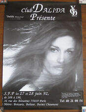 DALIDA CLUB YGD AFFICHE DE COLLECTION 1992 POSTER RARE