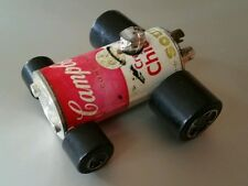 VINTAGE CAMPBELL'S CREAM CHICKEN SOUP CAN RAT ROD CAR HONG KONG POP ART