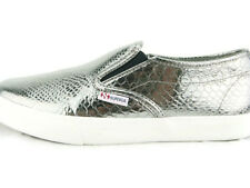 Superga 2311 METALLICSYNTHSN SlipOn Sneaker Shoes,Graphite,New,7.5M/9W/40EU,0366