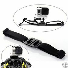 Black Vented Head Helmet Strap Mount Adapter for Gopro HD Hero 4 3+ 3 2 1 Camera