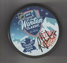 Riley Sheahan Signed 2014 Winter Classic Hockey Puck SIGNED Detroit Red Wings