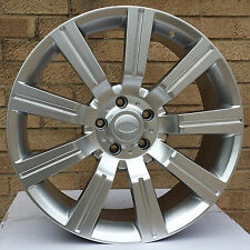 "20"" STORMER HYPER SILVER ALLOY WHEELS & TYRES RANGE ROVER SPORT LAND ROVER VOUGE"