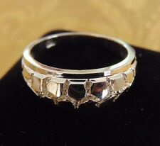 14k Solid Yellow Gold New Mens Ladies Nugget Ring Band