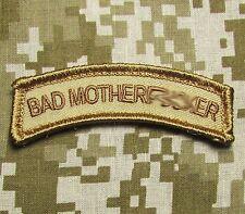 BAD MOTHERF**KER TAB US ARMY USA MILITARY ISAF DESERT HOOK & LOOP MORALE PATCH