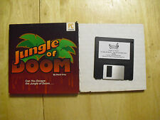 "jungle of doom from the hugo series pc compatible 3 1/2"" disk in box"