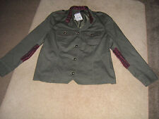 BRAND NEW WITH LABEL LOVELY COTTON LADIES JACKET SIZE 44  KARKY GREEN FREE POST