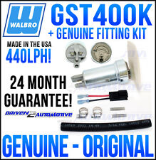 WALBRO GST400 GST400K TURBINE FAST ROAD / RACE 440 LPH FUEL PUMP + WALBRO KIT