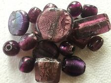 1kg Foiled Furnace glass beads - various sizes and shapes - 10 colours