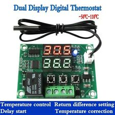 DC 12v Relay Dual LED digital thermostat Temperature control switch sensor