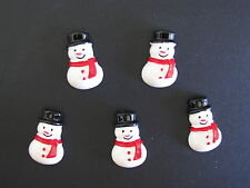 scrapbooking cards hair christmas cabochons snowmen flatback resin embellishment