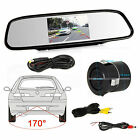 "4.3"" LCD Car Rear View Mirror Monitor + Car Rear View Reverse Backup Camera Kit"