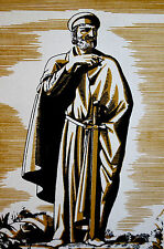 Rockwell Kent 1934 THE PHYSICIAN from the CANTERBURY TALES Vintage Print Matted