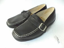 REDWINGS BLACK SMOOTH LEATHER SLIP ON LOAFER SHOE SZ 5M
