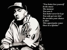 EMINEM SOURCE D'INSPIRATION / CITATION DE MOTIVATION AFFICHE / IMPRIMÉ