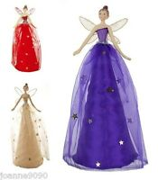 GISELA GRAHAM TRADITIONAL RED GOLD FAIRY ANGEL CHRISTMAS TREE TOPPER DECORATION