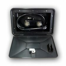 SHOWER BOX EXTERNAL FIT FOR CARAVAN AND RV LOCKABLE BLACK COLOUR